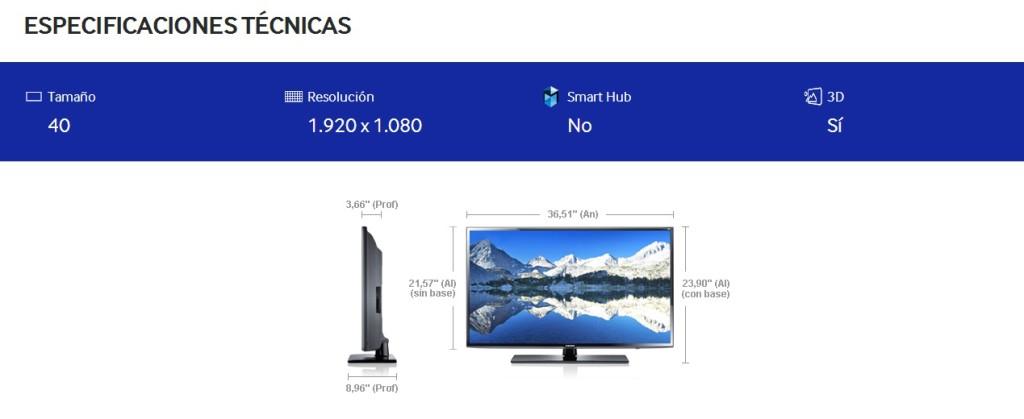 Carac Samsung 40 3D