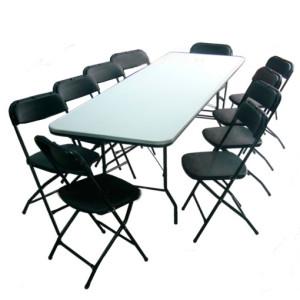 Ejemplo renta de sillas y mesas rectangulares